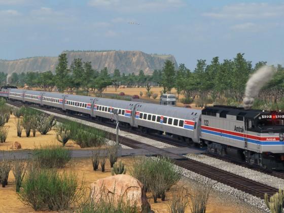 EMD F40 PH  and Amfleet Coaches - Amtrak Phase II