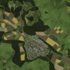 Luftbild vom bisher fertigen Bereich