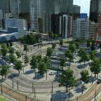 Mitten in der Stadt am Bahnhof