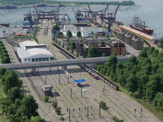Hafen in der Komplettansicht Nord