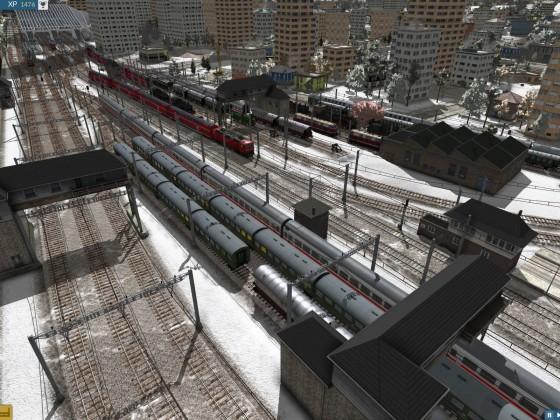 Detailansicht rechtes Bahnhofsvorfeld Richtung HBF