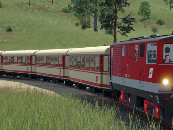 2095 beim Bahnübergang kurz vor Bischhofstetten