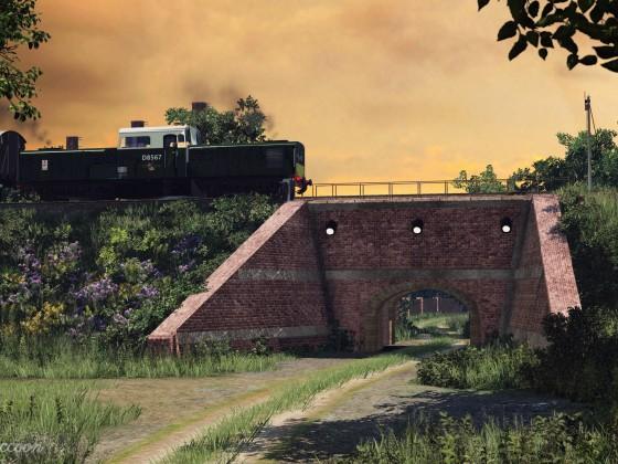 [TpF1] BR Class 17 crossing the countryside bridge