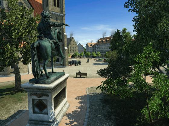 Kirchplatz und Alter Fritz