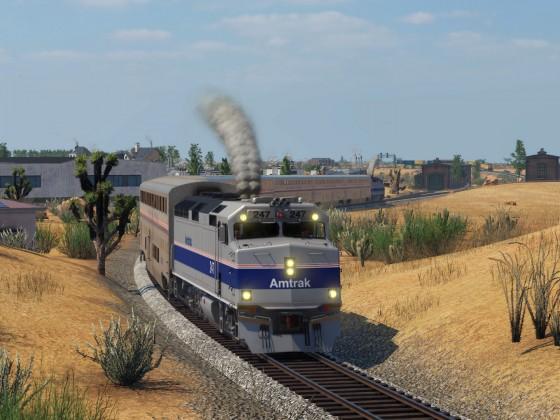 EMD F40 PH  and Superliner - Amtrak Phase IV