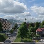 Ringier Einfahrt mit Astrag Neubau