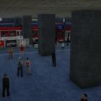 Vom Einkaufsbahnhof auf den Bahnsteig