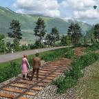 Alte Gleise als Spazierweg
