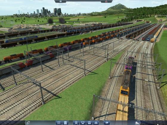Großer Güterbahnhof an der alten Maschinenfabrik
