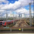 Frankfurt Hbf/Skyline - Gleisvorfeld