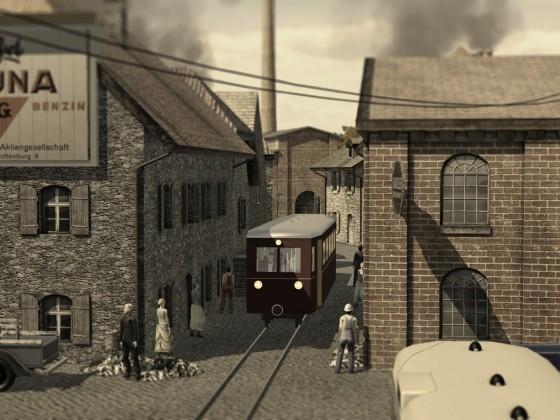 Lokalbahn und Kleinstadt 1