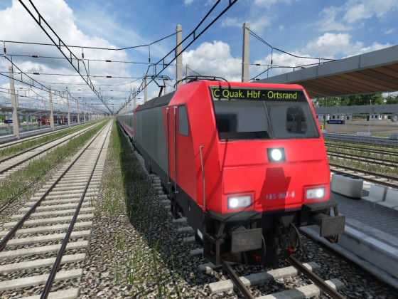 Screenshots von der Testkarte (DB Intercity)