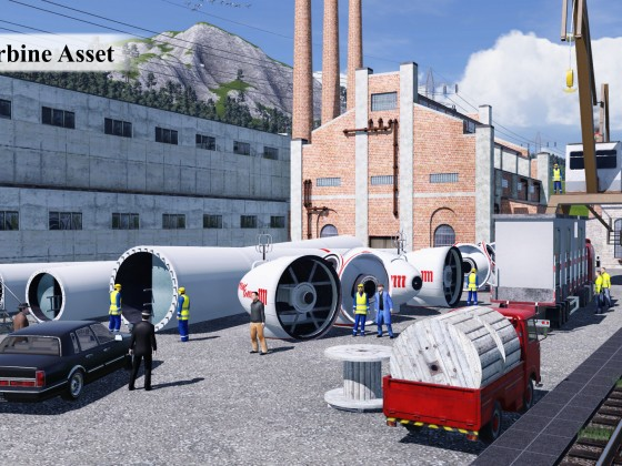 Fabrik für Windkraftanlagen