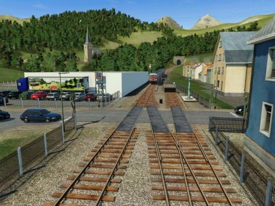 Bahnübergang Obergloms