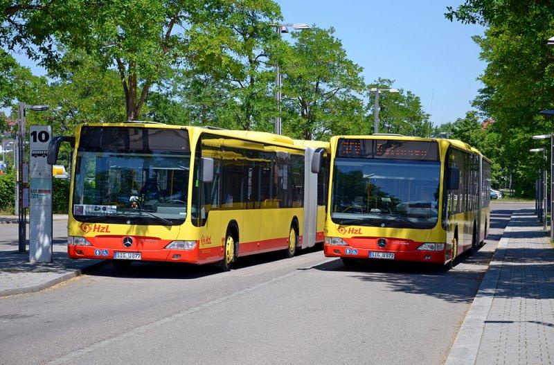Citaro Überland- Version der HzL (Hohenzollerische Landesbahn,SWEG) in Balingen(Württ)