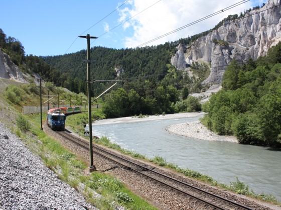 Glacier Express in der Ruinaulta