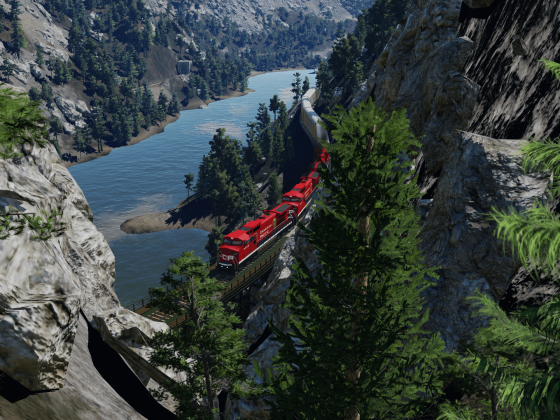 Sich durch den Canyon schlängeln