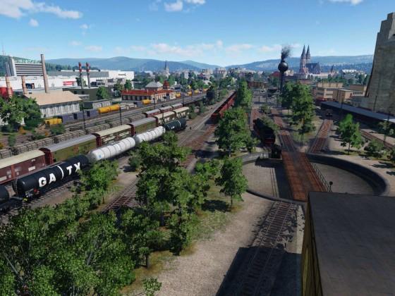 BR 03 022 hat das Depot verlassen.