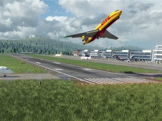 DHL takeoff