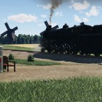 [TpF1] Everyone remember his first time meeting with real steam loco :)