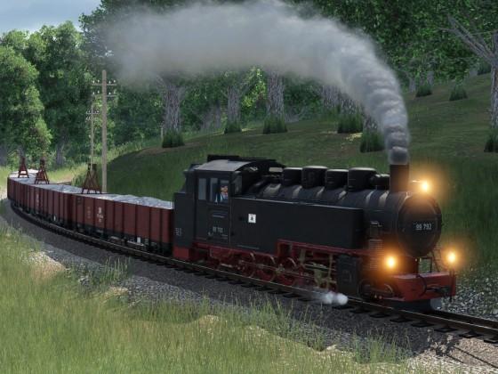 Sächsische Schmalspur Güterzug