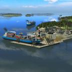 Letzter Hafen am Fjordende