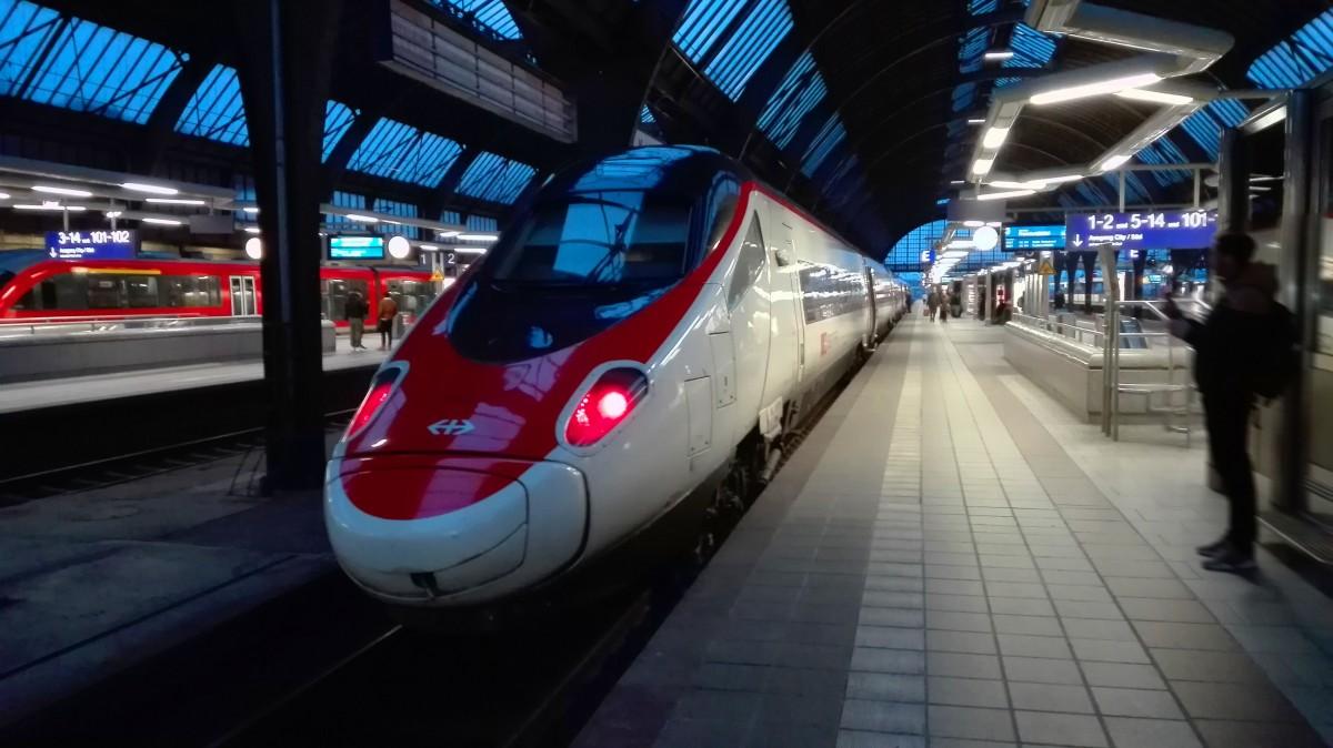Alstom ETR 610 in Karlsruhe als ECE 52 nach Frankfurt am Main