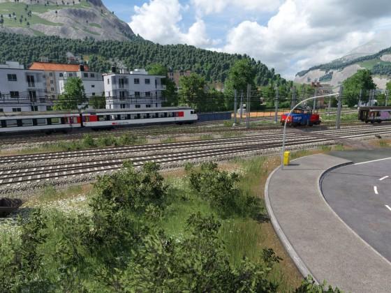 Panorama und Steuerwagen