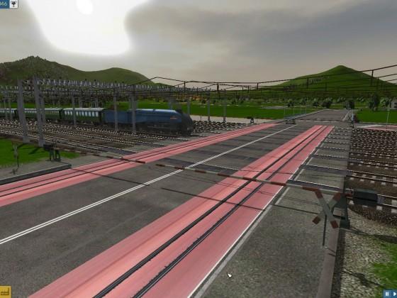 Bahnübergang hinter dem Hauptbahnhof mit mehr als 6 Linien