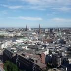 Panorama von Hamburg bei noch etwas besserem Wetter