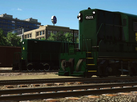 """Jersey Central Lines"" Alco HH 600 and GP7"