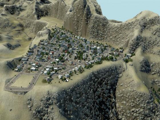 Stadt auf dem Berg
