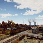 Union Pacific GP9s and the atomic powerstation