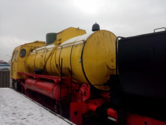 Ein gelber Dampfer
