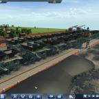 Kohle Verlade Station 4 spurig