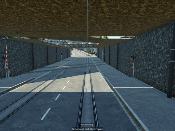 Unterirdischer Bahnübergang