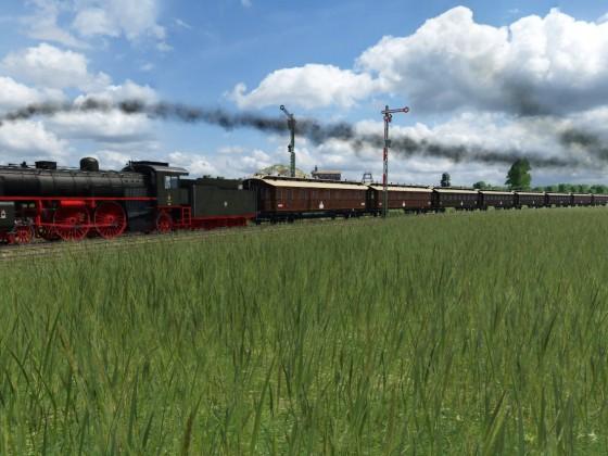 D-Zug auf dem Weg nach Köln
