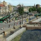 Stadtmitte, Stadtgraben und Stadtmauer