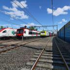 [TpF 1] Güterzug fährt an Abstellungen Sommerthur vorbei
