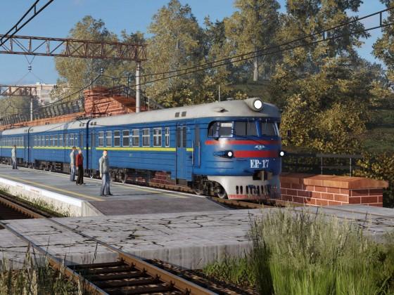 Suburban train in Ukraine