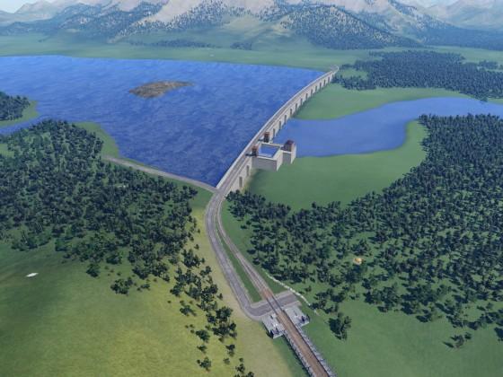 Staudamm Panorama (3)