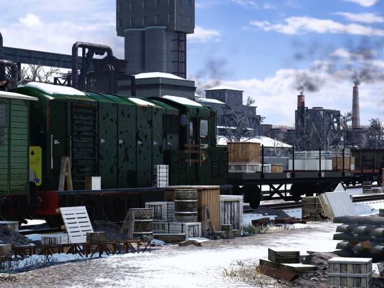 [TpF1] Abandoned factory yard in the spring