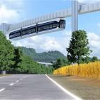 Prestigeprojekt Schwebebahn (Monorail) in Freifeld zwischen Flughafen und Messe 3/8