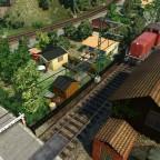 Diesel-Lärm und Kleingärten