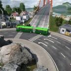 Amfahrt auf die Alain Berset Brücke