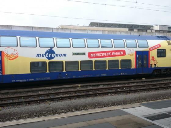 Steuerwagen der Metronom in Hannover Hbf