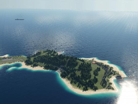 Die gesamte Insel von oben