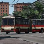[TpF1] Old Škoda 15Tr leaving trolleybus depot