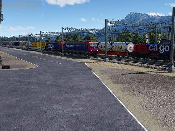 Bereitstellungsraum am Containerterminal