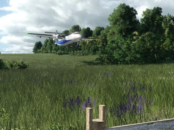 Dash 8-300 im schwierigen Anflug